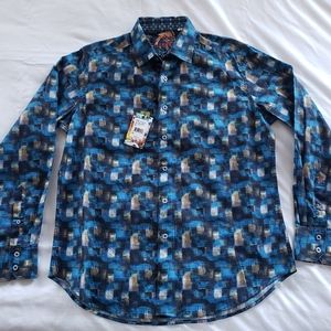 Robert Graham MIXED COMPANY Blue Medium Shirt L/S